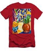 Orange Iris Men's T-Shirt (Athletic Fit)