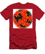 Orange Lilies Vignette Men's T-Shirt (Athletic Fit)