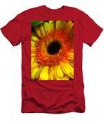 Orange-yellow Men's T-Shirt (Athletic Fit)