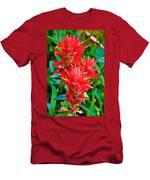 Paintbrush On Highline Trail In Glacier National Park-montana   Men's T-Shirt (Athletic Fit)