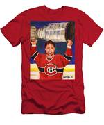 Patrick Roy Wins The Stanley Cup Men's T-Shirt (Athletic Fit)