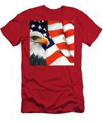Patriotic Eagle And Flag Men's T-Shirt (Athletic Fit)