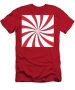 Peppermint Swirl Men's T-Shirt (Athletic Fit)