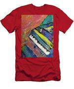 Piano With Yellow Men's T-Shirt (Athletic Fit)