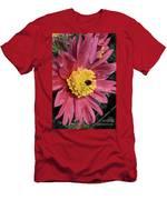 Pink Pasque Flower Men's T-Shirt (Athletic Fit)