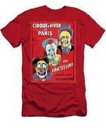 Poster Advertising The Fratellini Clowns Men's T-Shirt (Athletic Fit)