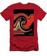 Red And Black Stream  Men's T-Shirt (Athletic Fit)