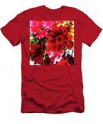 Red Gerbera Daisy Abstract Men's T-Shirt (Athletic Fit)