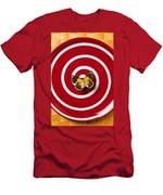 Red Plate And Yellow Black Butterfly Men's T-Shirt (Athletic Fit)