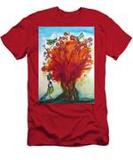 Red Tree And Friends Men's T-Shirt (Athletic Fit)