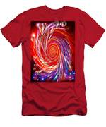 Red Twirl Men's T-Shirt (Athletic Fit)