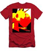 Red Yellow Abstract Men's T-Shirt (Athletic Fit)