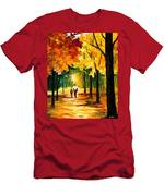Stroll In The Forest Men's T-Shirt (Athletic Fit)