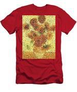Sunflower Mosaic Men's T-Shirt (Athletic Fit)