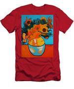Sunflowers Van Gogh Men's T-Shirt (Athletic Fit)