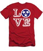 Tennessee Flag Love Men's T-Shirt (Athletic Fit)