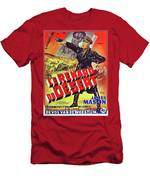 The Desert Fox  James Mason Theatrical Poster Number 2 1951 Color Added 2016 Men's T-Shirt (Athletic Fit)
