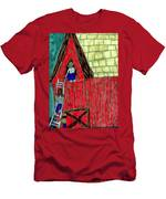 The Red Shed Club House That Dad Built Men's T-Shirt (Athletic Fit)