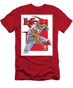 Travis Kelce Kansas City Chiefs Oil Art Men's T-Shirt (Athletic Fit)