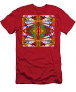 Tropical Stained Glass Men's T-Shirt (Athletic Fit)