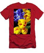 Tulips And Iris Men's T-Shirt (Athletic Fit)