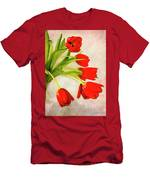 Tulips In A Vase Men's T-Shirt (Athletic Fit)