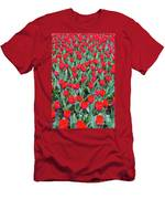 Tulips In Kristiansund, Norway Men's T-Shirt (Athletic Fit)