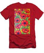 Tuscan Poppies - Crop 1 Men's T-Shirt (Athletic Fit)