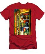 View From A French Quarter Balcony Men's T-Shirt (Athletic Fit)