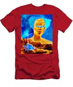 Woman In The Blue Mask Men's T-Shirt (Athletic Fit)