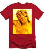 Yellow Christ #1 Men's T-Shirt (Athletic Fit)