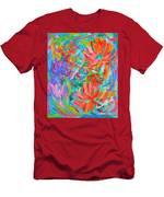 Flower Twirl Men's T-Shirt (Athletic Fit) by Kendall Kessler