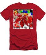 Abstract Fall Acer Stained Glass  Men's T-Shirt (Athletic Fit)