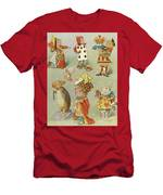 Alice In Wonderland Characters Men's T-Shirt (Athletic Fit)