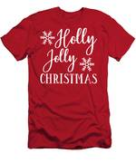 Holly Jolly Christmas Men's T-Shirt (Athletic Fit)