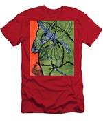 Horse On Orange And Green Men's T-Shirt (Athletic Fit)