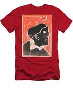 I Was Born In A Mine Woodcut 49 Men's T-Shirt (Athletic Fit)