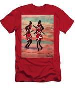 Maasai Dancers Men's T-Shirt (Athletic Fit)