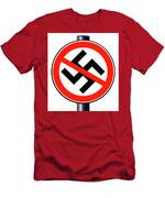 No Nazi Street Sign Men's T-Shirt (Athletic Fit)