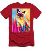 Siamese Cat Men's T-Shirt (Athletic Fit)