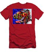 Swollen Red Cavity Fish Men's T-Shirt (Athletic Fit)