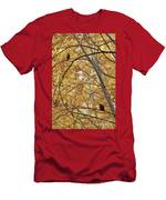 Two Owls In Autumn Tree Men's T-Shirt (Athletic Fit)