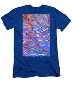 Abstract Curvy 45 Men's T-Shirt (Athletic Fit)