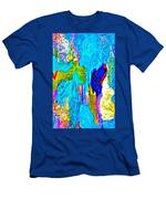 Abstract Melting Planet Men's T-Shirt (Athletic Fit)
