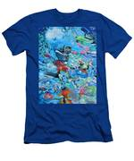 Blue Confusion Men's T-Shirt (Athletic Fit)