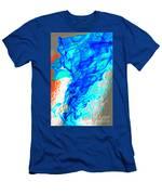 Blue Flame Men's T-Shirt (Athletic Fit)