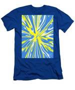 Blue Yellow White Swirl Men's T-Shirt (Athletic Fit)
