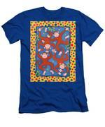 Cheeky Monkeys Wc Men's T-Shirt (Athletic Fit)