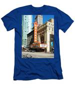 Chicago Theater Marquee Sign On State Street Men's T-Shirt (Athletic Fit)