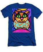Contented Cat Men's T-Shirt (Athletic Fit)